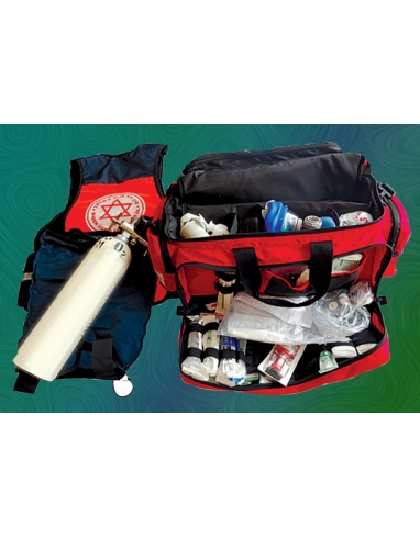Paramedic Life-Pack & O2 Tank